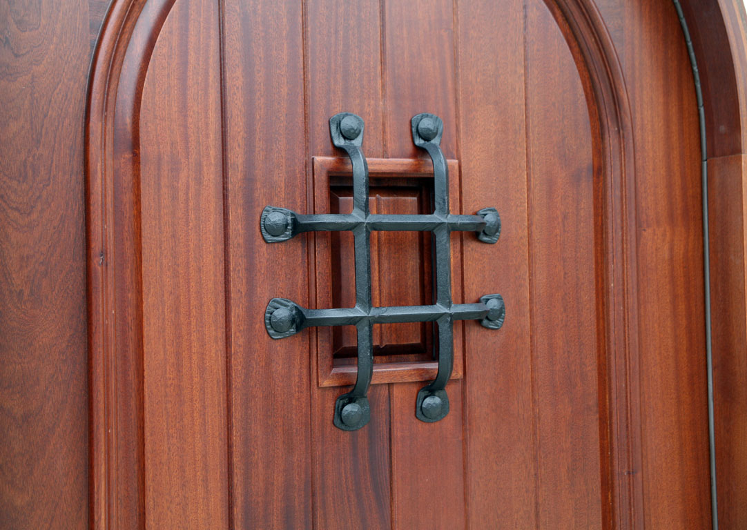 Mahogany Round Top Clearance Pre Finished Exterior Door