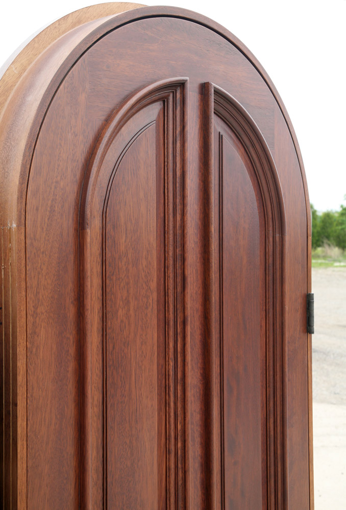 Mahogany Round Top Door Clearance Pre Finished Radius Top Doors