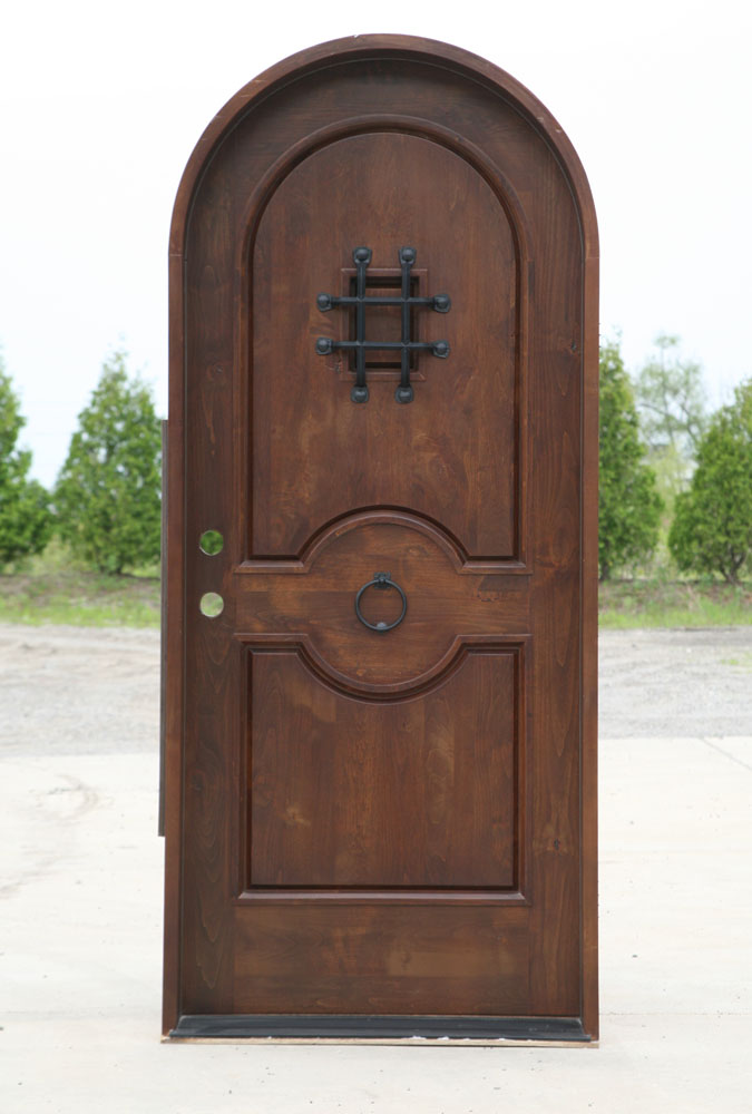 Arch Top Exterior Doors Knotty Alder
