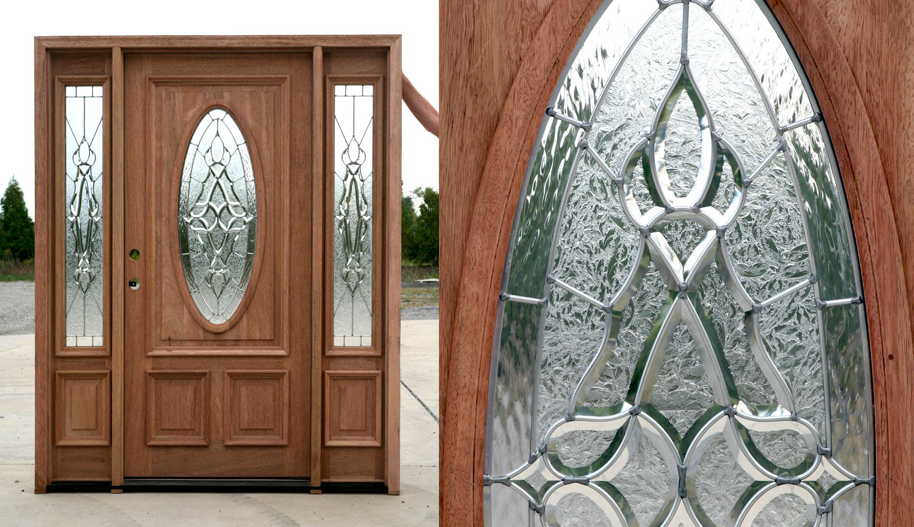 1080 #77472F Details About Mahogany Exterior Entry Door With Sidelights 300Shannon pic Clearance Entry Doors 44311872