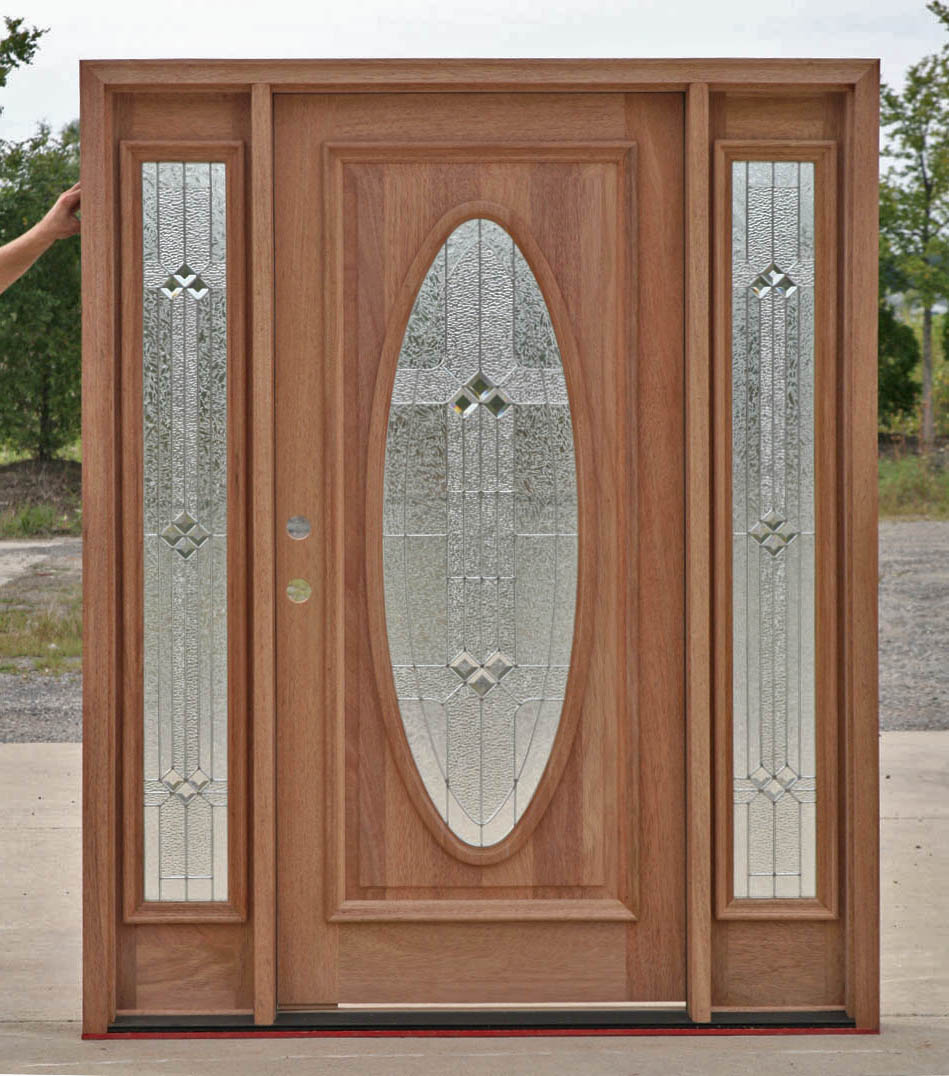 Wood Exterior Doors with Sidelights B-600 Builder