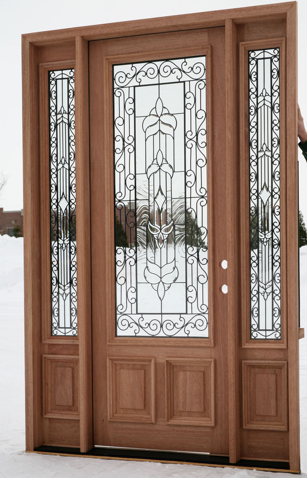 Front doors with glass for Wood and glass front entry doors