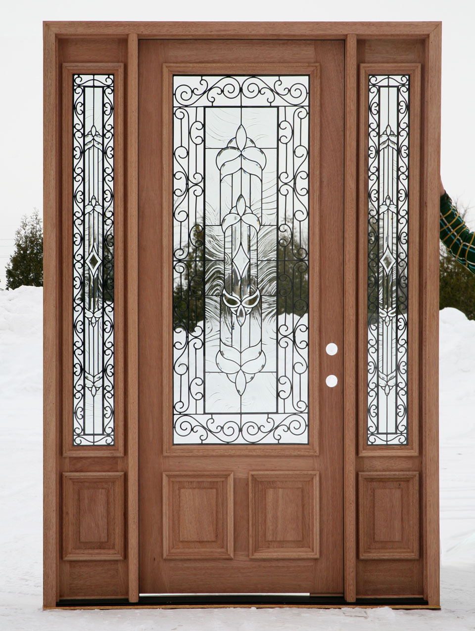 Front doors with glass for Exterior front entry wood doors with glass
