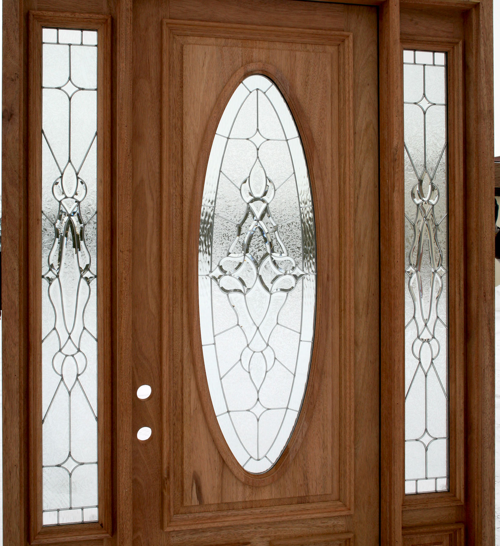 Exterior door with sidelights for Exterior kitchen doors with glass