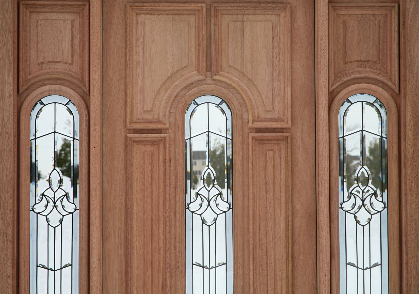 Exterior doors prehung with sidelights for Entry door with window