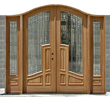 Clearance Bella Arched Double Doors with Sidelites