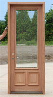 8-0 door with clear beveled glass
