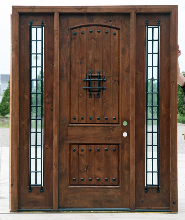 Most Popular Rustic Exterior Doors Knotty Alder clearance priced