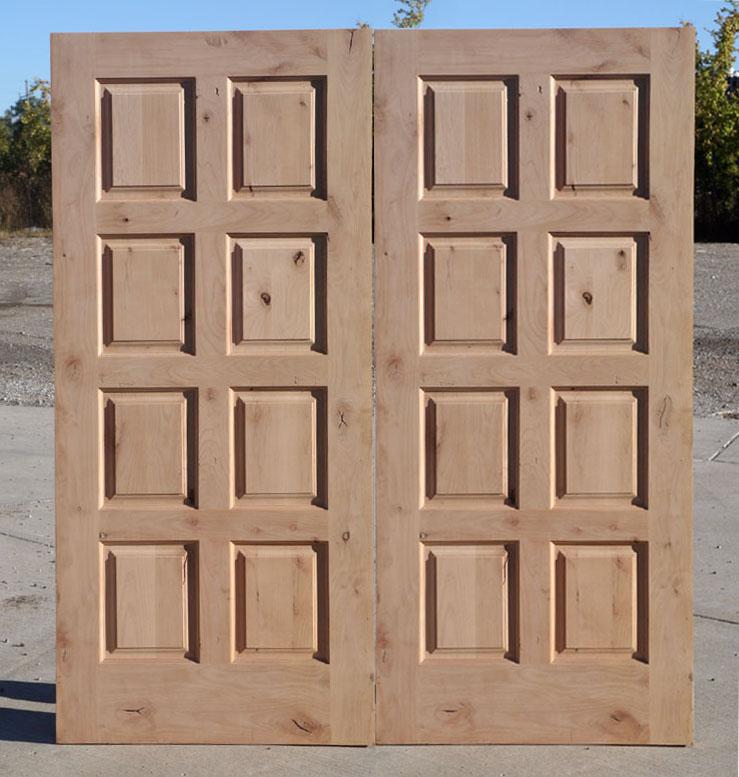 Elegant Rustic Double Door 8 Panel