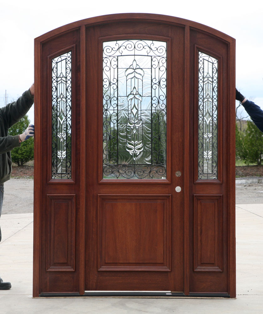 Radius arch top door with sidelights for Entry doors with sidelights