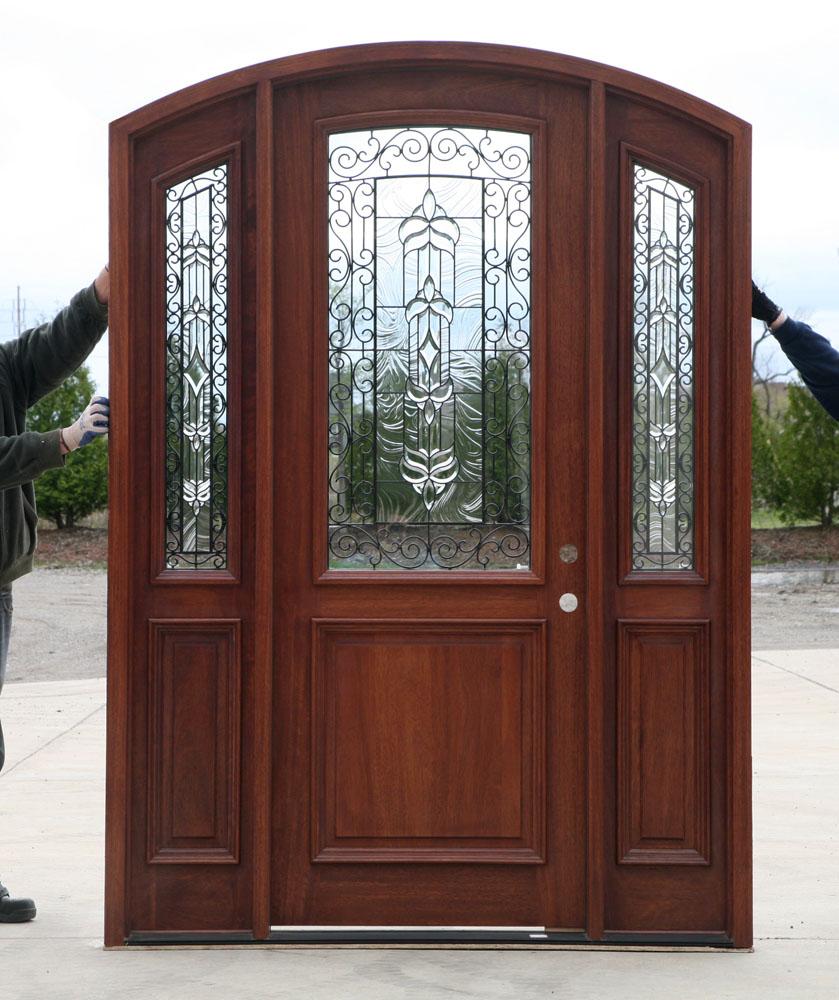 Radius Arch Top Door With Sidelights