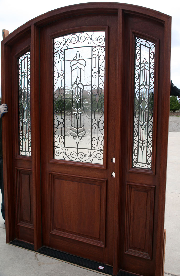 Radius Arch Top Door With Sidelights