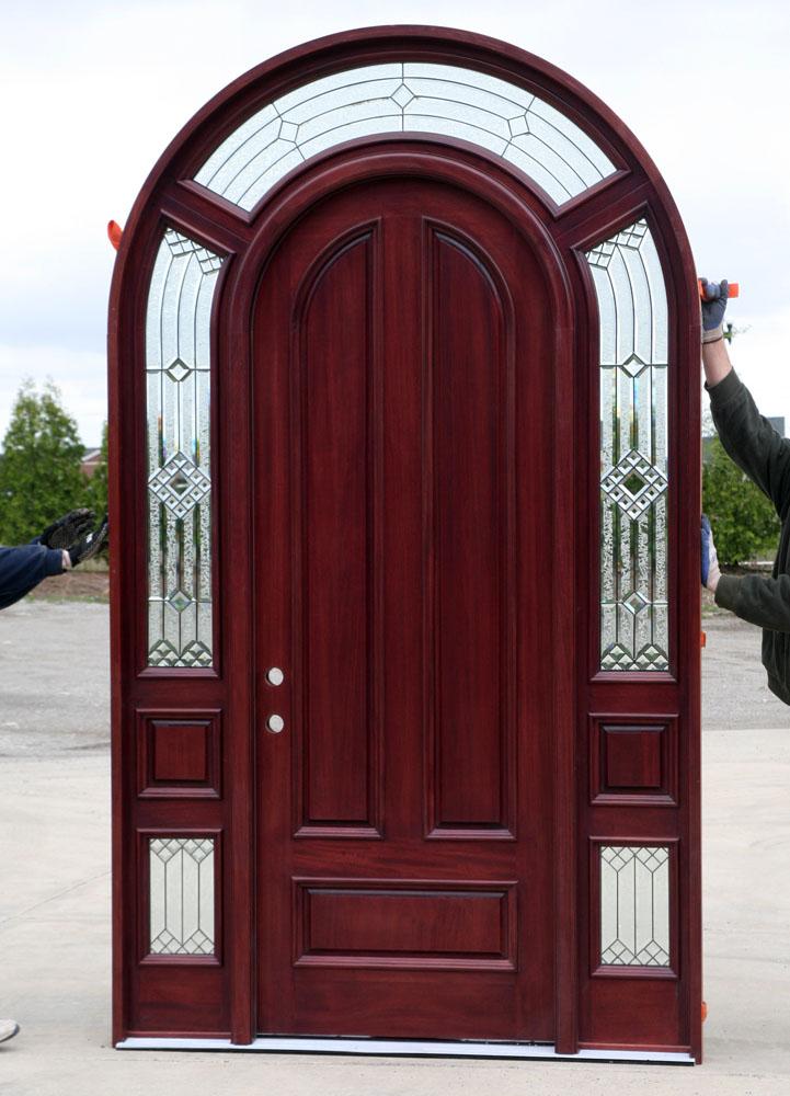 Custom Round Top Mahogany Door