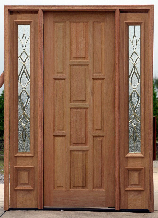 clearance doors with 2 sidelights at discount prices