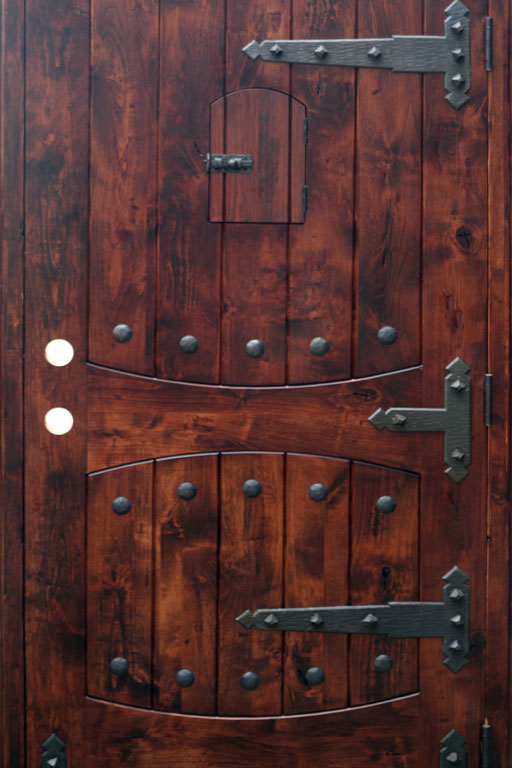 Rustic Knotty Alder Pre Finished Vienna Exterior Door