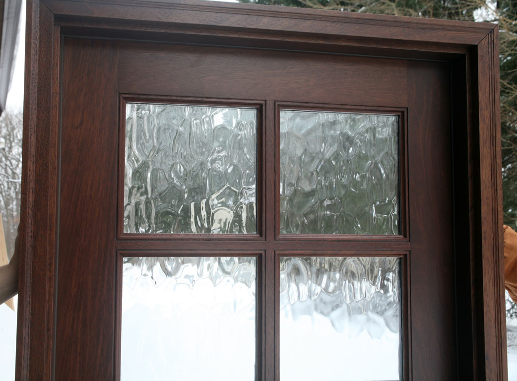 exterior french door with glass