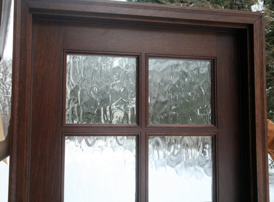 Exterior french door with glass for Front doors that let in light