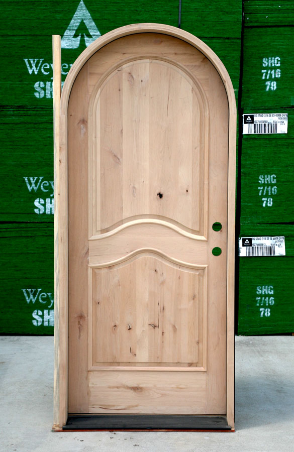 Ordinaire Arched Top Door Clearance Knotty Alder Arched Door