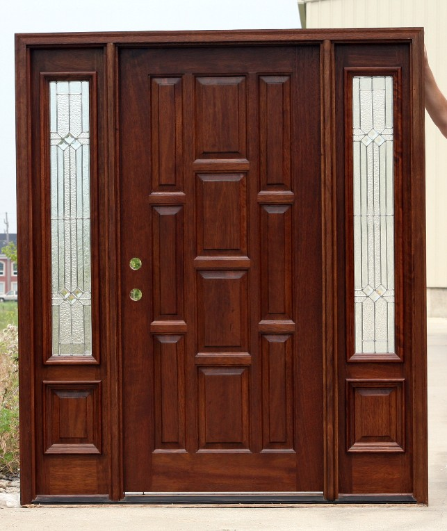 Exterior doors with sidelights on discount for Cheap exterior doors