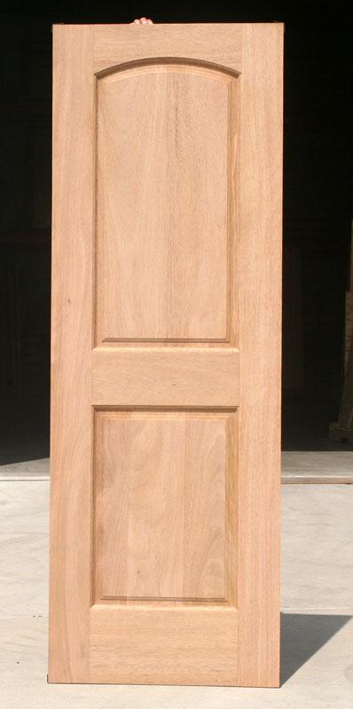 Interior clearance 2 panel mahogany doors