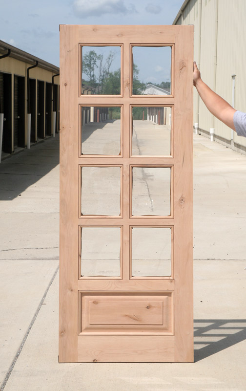 Interior Clearance Knotty Alder 8 Lite French Doors