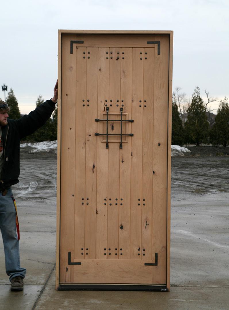 Rustic Exterior Doors SW-70 prehung Alder Wood Door