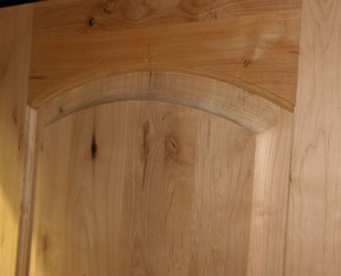 alder door with thick panels