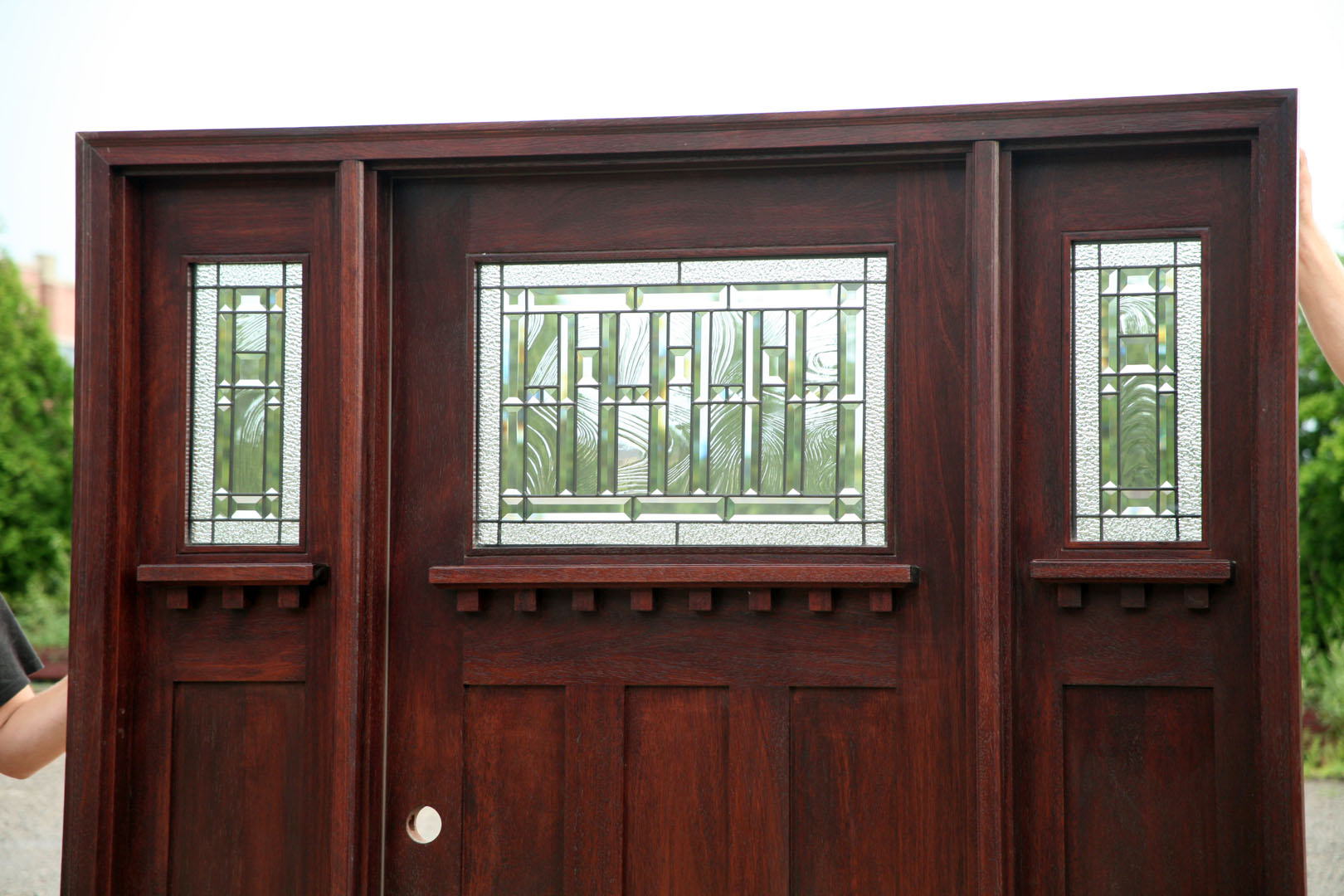 Exterior wood doors craftsman viewing gallery