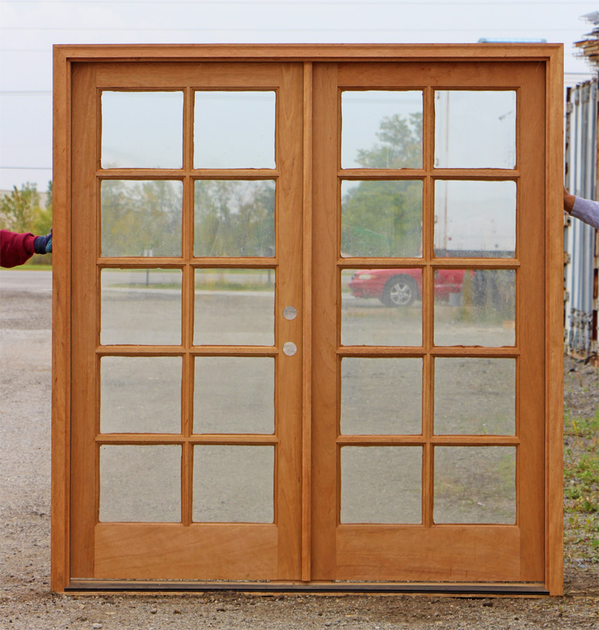 French doors exterior brown french doors exterior for Wooden outside doors