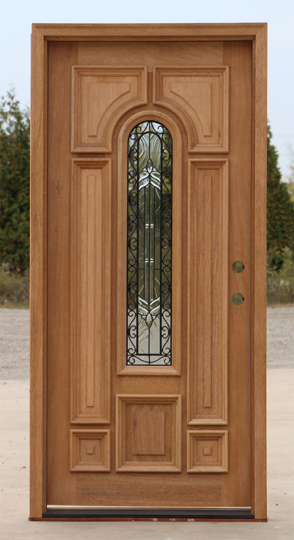 Exterior Mahogany Doors With Wrought Iron Glass