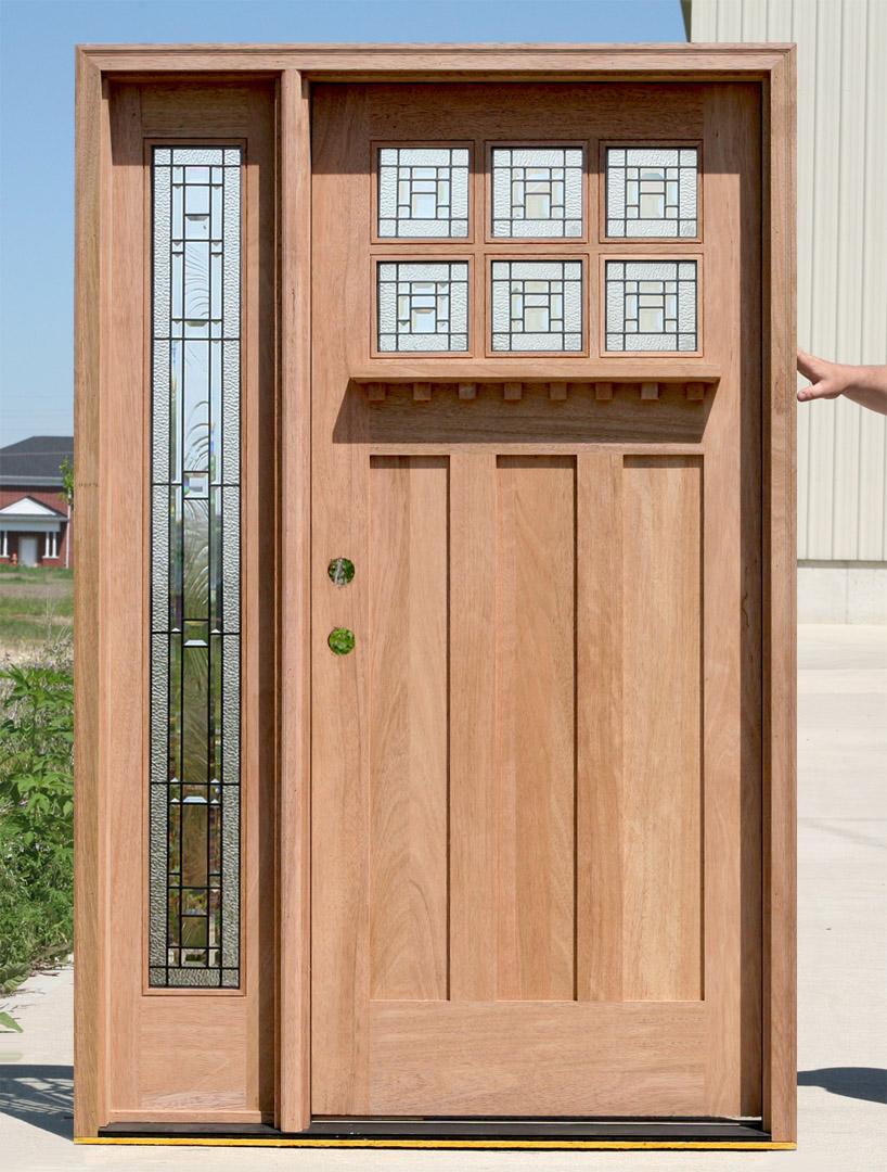 Exterior Craftsman Door With 1 Sidelite
