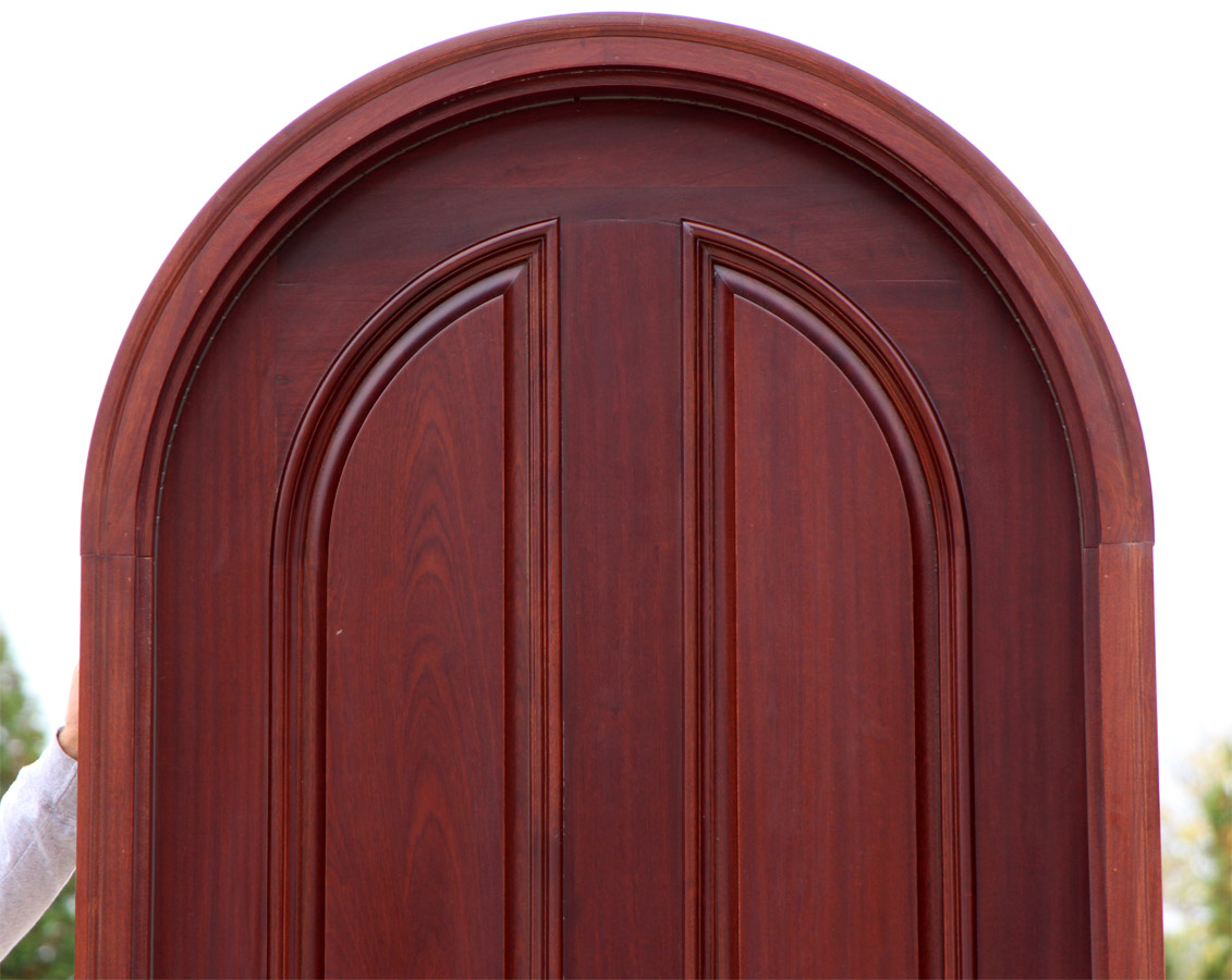 900 #441718 Arched Top Round Top African Mahogany Exterior Door save image Exterior Arched Doors 45071131
