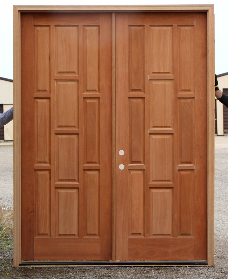 Exterior double doors clearance doors mahogany for Cheap exterior doors