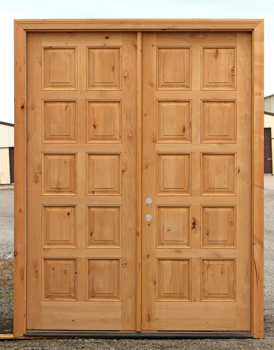 Rustic exterior double doors clearance for Exterior double doors