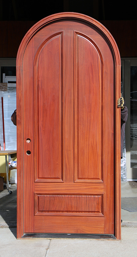 Round Top Mahogany Doors