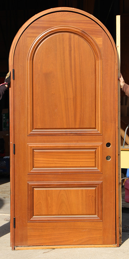 Round Top Carved Mahogany Doors