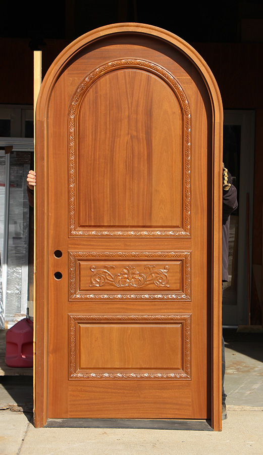 Round Top Carved Mahogany Doors