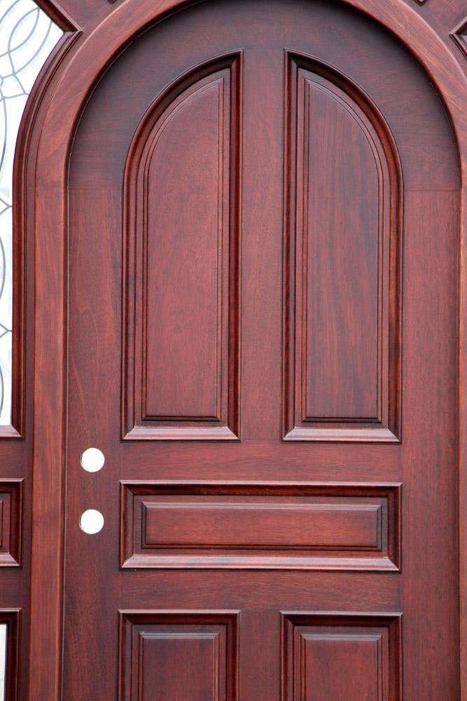 Mahogany Round Exterior Clearance Doors