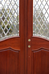 Arched Double Door Closeup