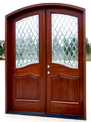 Custom Double Doors closeup photo