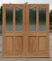 Oak Double Doors with Flemish Glass