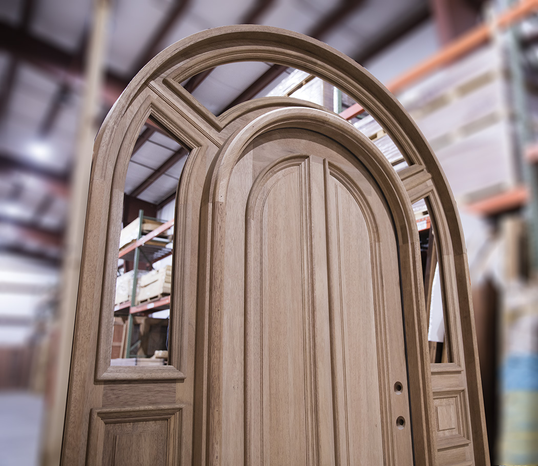 Solid Brazilian Mahogany Arched Top Door