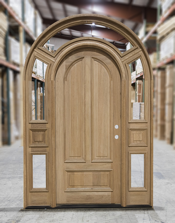 Solid Brazilian Mahogany Arched Top Door