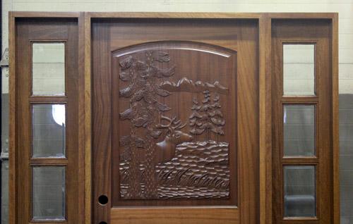 Elk Door And Sidelights