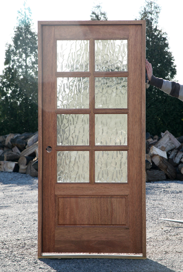 Flemish glass doors exterior 8 lite for Glass for front door