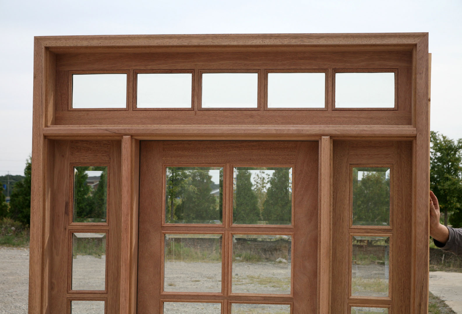 Transom doors french doors with transom and windows for Small double front doors