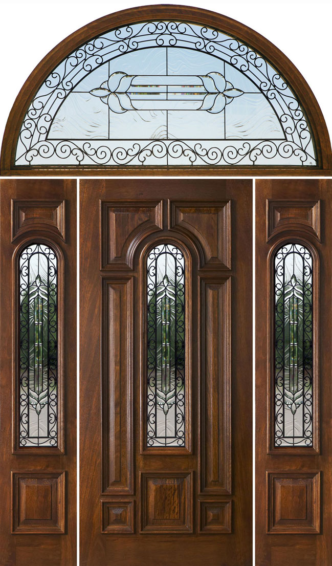 Half Round Transom Doors Wrought Iron Glass Doors