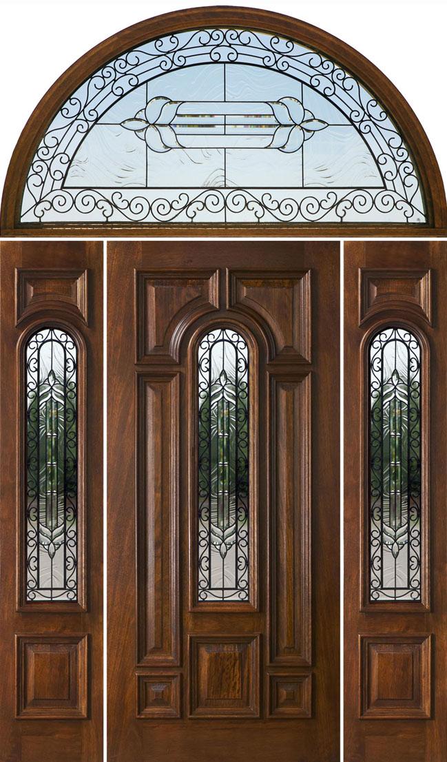 Half Round Transom Doors Wrought Iron Glass Doors