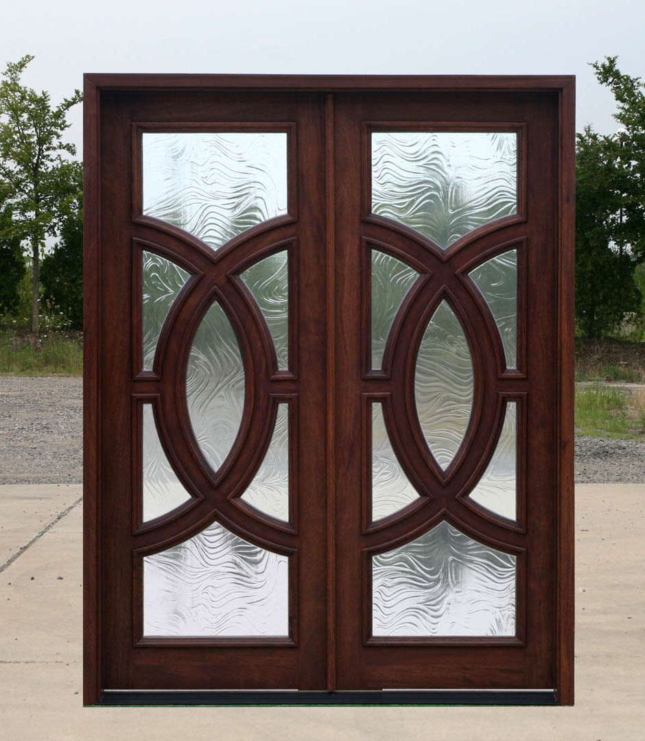 Baroque glass door for Clear baroque glass