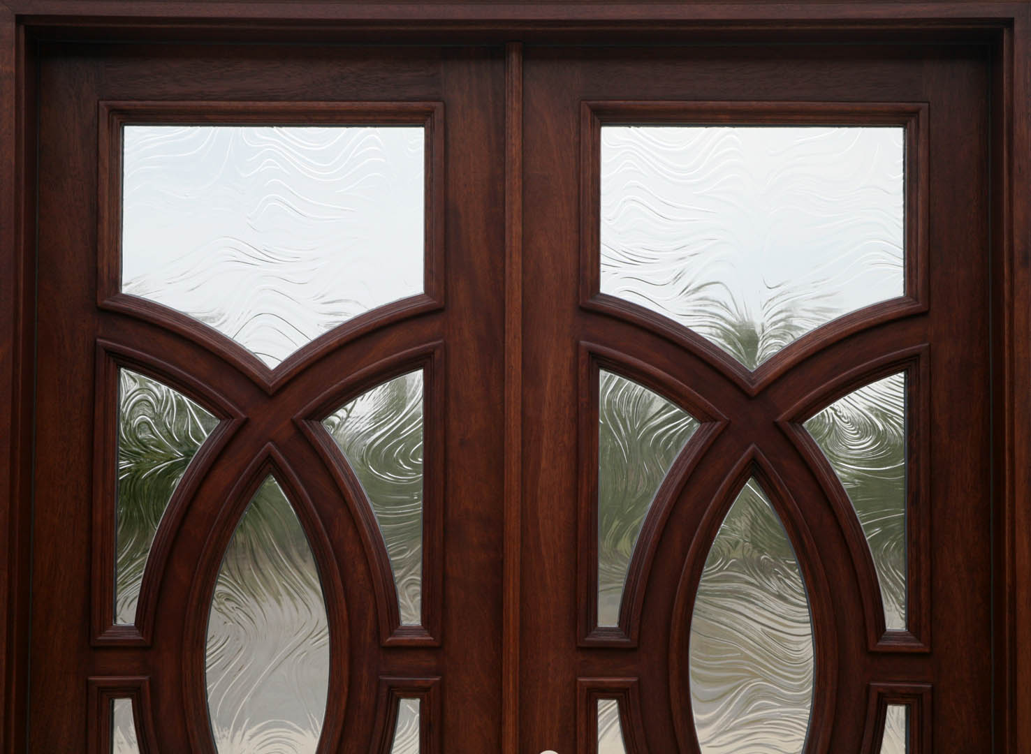 Exterior Double Doors With Baroque Glass